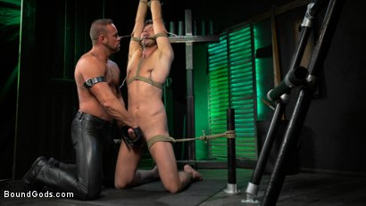 Photo number 7 from I Dream of Leather: Damon Heart Submits to Leather God Michael Roman shot for Bound Gods on Kink.com. Featuring Michael Roman and Damon Heart in hardcore BDSM & Fetish porn.