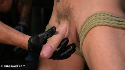 Photo number 8 from I Dream of Leather: Damon Heart Submits to Leather God Michael Roman shot for Bound Gods on Kink.com. Featuring Michael Roman and Damon Heart in hardcore BDSM & Fetish porn.