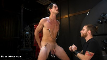 Photo number 11 from Face Your Fears: Tony Orlando and Sherman Maus Confront Their Torment shot for Bound Gods on Kink.com. Featuring Sebastian Keys, Sherman Maus and Tony Orlando in hardcore BDSM & Fetish porn.