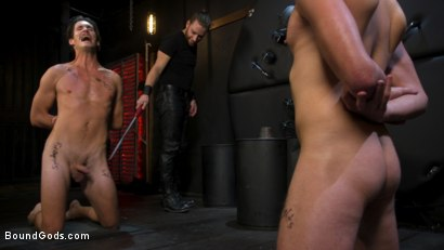 Photo number 15 from Face Your Fears: Tony Orlando and Sherman Maus Confront Their Torment shot for Bound Gods on Kink.com. Featuring Sebastian Keys, Sherman Maus and Tony Orlando in hardcore BDSM & Fetish porn.