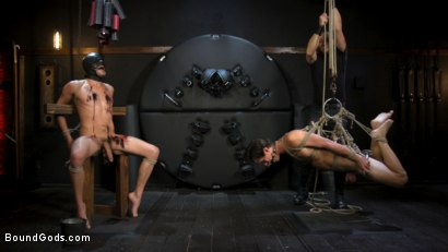 Photo number 16 from Face Your Fears: Tony Orlando and Sherman Maus Confront Their Torment shot for Bound Gods on Kink.com. Featuring Sebastian Keys, Sherman Maus and Tony Orlando in hardcore BDSM & Fetish porn.