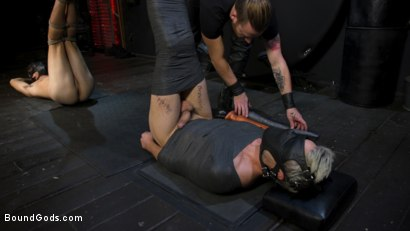 Photo number 22 from Face Your Fears: Tony Orlando and Sherman Maus Confront Their Torment shot for Bound Gods on Kink.com. Featuring Sebastian Keys, Sherman Maus and Tony Orlando in hardcore BDSM & Fetish porn.