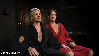 Photo number 29 from Face Your Fears: Tony Orlando and Sherman Maus Confront Their Torment shot for Bound Gods on Kink.com. Featuring Sebastian Keys, Sherman Maus and Tony Orlando in hardcore BDSM & Fetish porn.