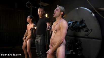 Photo number 6 from Face Your Fears: Tony Orlando and Sherman Maus Confront Their Torment shot for Bound Gods on Kink.com. Featuring Sebastian Keys, Sherman Maus and Tony Orlando in hardcore BDSM & Fetish porn.
