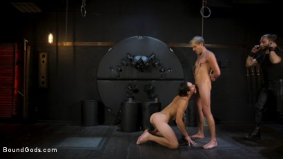 Photo number 7 from Face Your Fears: Tony Orlando and Sherman Maus Confront Their Torment shot for Bound Gods on Kink.com. Featuring Sebastian Keys, Sherman Maus and Tony Orlando in hardcore BDSM & Fetish porn.