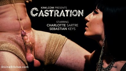 CASTRATION: Vicious Charlotte Sartre Destroys Pain Slut Sebastian Keys