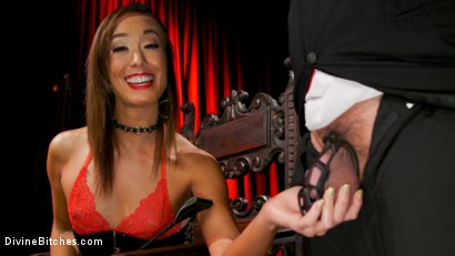 Photo number 1 from Christy Love Dominates The Gimp and Fucks Him in the Ass shot for Divine Bitches on Kink.com. Featuring Christy Love  and Papa Georgio in hardcore BDSM & Fetish porn.