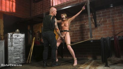 Photo number 1 from Adira Allure: Derrick Pierce Takes Down the Domme shot for Brutal Sessions on Kink.com. Featuring Adira Allure  and Derrick Pierce in hardcore BDSM & Fetish porn.