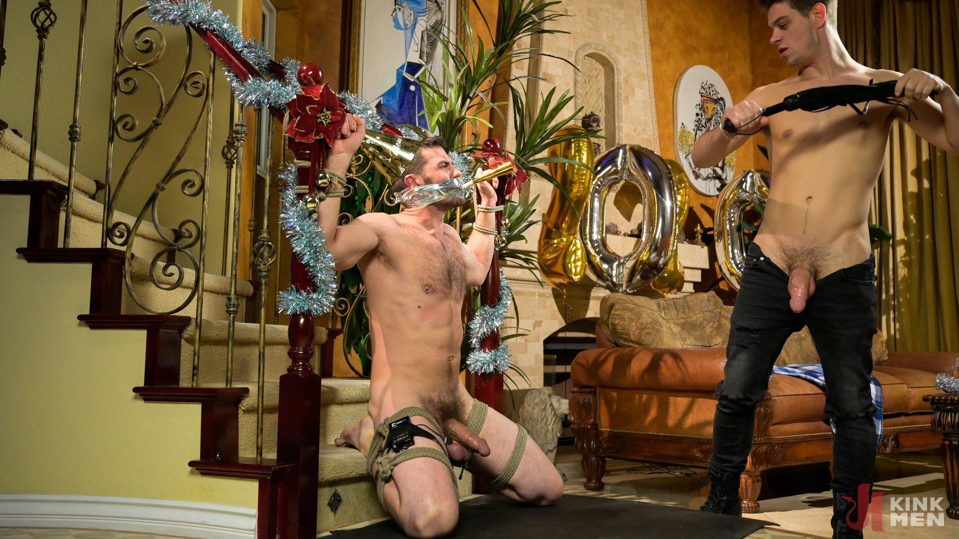 Photo number 10 from Homo Alone Part 2: Pizza Man Michael DelRay Punishes Vander Pulaski shot for Bound Gods on Kink.com. Featuring Michael DelRay and Vander Pulaski in hardcore BDSM & Fetish porn.