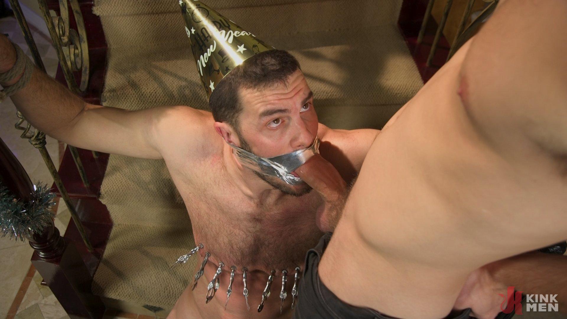 Photo number 16 from Homo Alone Part 2: Pizza Man Michael DelRay Punishes Vander Pulaski shot for Bound Gods on Kink.com. Featuring Michael DelRay and Vander Pulaski in hardcore BDSM & Fetish porn.