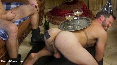 Photo number 20 from Homo Alone Part 2: Pizza Man Michael DelRay Punishes Vander Pulaski shot for Bound Gods on Kink.com. Featuring Michael DelRay and Vander Pulaski in hardcore BDSM & Fetish porn.