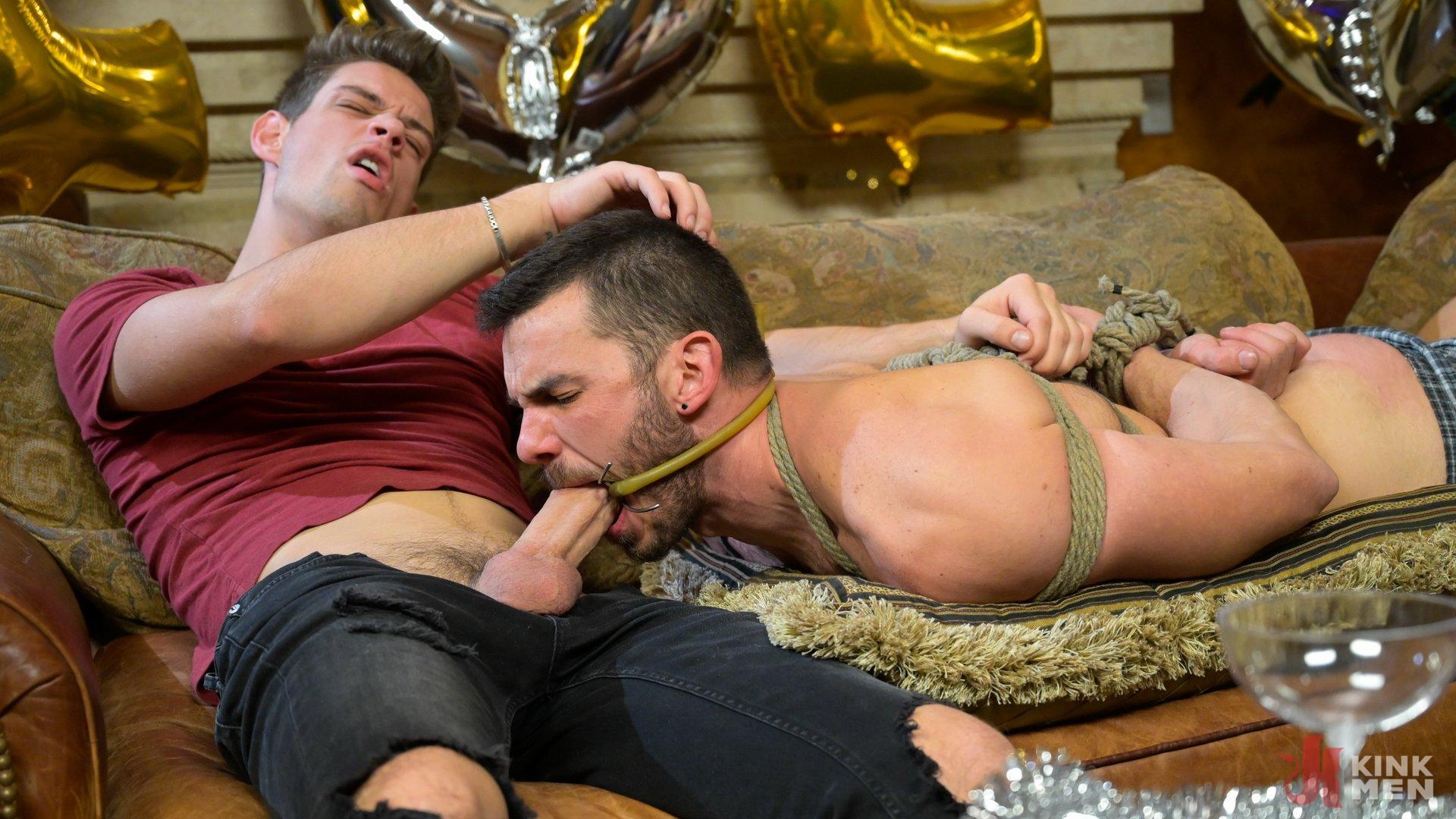Photo number 8 from Homo Alone Part 2: Pizza Man Michael DelRay Punishes Vander Pulaski shot for Bound Gods on Kink.com. Featuring Michael DelRay and Vander Pulaski in hardcore BDSM & Fetish porn.