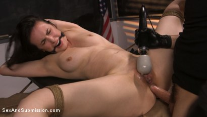 Photo number 13 from Anal Evidence: Dirty Cop Fucks & Abuses Evidence Clerk Casey Calvert shot for Sex And Submission on Kink.com. Featuring Tommy Pistol and Casey Calvert in hardcore BDSM & Fetish porn.