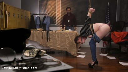 Photo number 1 from Anal Evidence: Dirty Cop Fucks & Abuses Evidence Clerk Casey Calvert shot for Sex And Submission on Kink.com. Featuring Tommy Pistol and Casey Calvert in hardcore BDSM & Fetish porn.