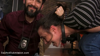 Photo number 3 from Anal Evidence: Dirty Cop Fucks & Abuses Evidence Clerk Casey Calvert shot for Sex And Submission on Kink.com. Featuring Tommy Pistol and Casey Calvert in hardcore BDSM & Fetish porn.