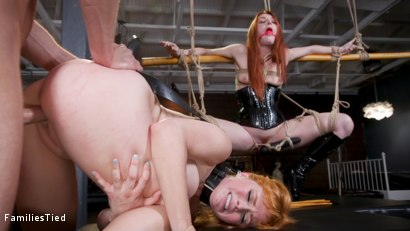 Photo number 18 from Bad Habits: New Year's Resolution Lands Family in Latex Anal Training shot for  on Kink.com. Featuring Seth Gamble, Lacy Lennon  and Penny Pax in hardcore BDSM & Fetish porn.