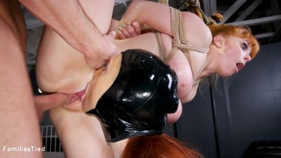 Photo number 20 from Bad Habits: New Year's Resolution Lands Family in Latex Anal Training shot for  on Kink.com. Featuring Seth Gamble, Lacy Lennon  and Penny Pax in hardcore BDSM & Fetish porn.