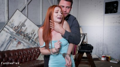 Photo number 3 from Bad Habits: New Year's Resolution Lands Family in Latex Anal Training shot for  on Kink.com. Featuring Seth Gamble, Lacy Lennon  and Penny Pax in hardcore BDSM & Fetish porn.