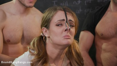 Photo number 8 from Dirty Pig Whore: Teacher Zoe Sparx Oinks for Cock, Stuffed Airtight shot for Bound Gang Bangs on Kink.com. Featuring Zoe Sparx, Ramon Nomar, Tommy Pistol, Eddie Jaye, Donny Sins and Codey Steele in hardcore BDSM & Fetish porn.