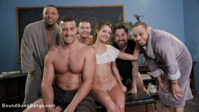 Photo number 31 from Dirty Pig Whore: Teacher Zoe Sparx Oinks for Cock, Stuffed Airtight shot for Bound Gang Bangs on Kink.com. Featuring Zoe Sparx, Ramon Nomar, Tommy Pistol, Eddie Jaye, Donny Sins and Codey Steele in hardcore BDSM & Fetish porn.