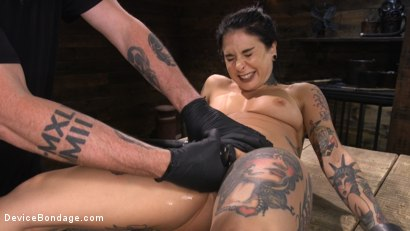 Photo number 18 from Joanna Angel: Tattooed Slut Made to Cum in Grueling Bondage shot for Device Bondage on Kink.com. Featuring Joanna Angel in hardcore BDSM & Fetish porn.