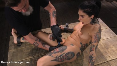Photo number 19 from Joanna Angel: Tattooed Slut Made to Cum in Grueling Bondage shot for Device Bondage on Kink.com. Featuring Joanna Angel in hardcore BDSM & Fetish porn.