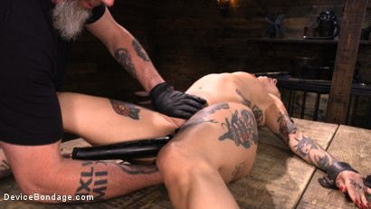 Photo number 22 from Joanna Angel: Tattooed Slut Made to Cum in Grueling Bondage shot for Device Bondage on Kink.com. Featuring Joanna Angel in hardcore BDSM & Fetish porn.