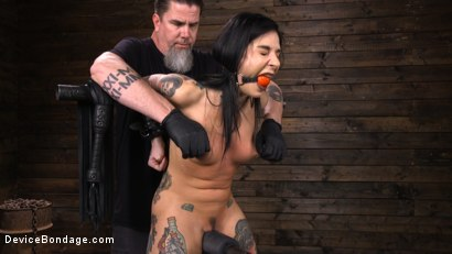 Photo number 3 from Joanna Angel: Tattooed Slut Made to Cum in Grueling Bondage shot for Device Bondage on Kink.com. Featuring Joanna Angel in hardcore BDSM & Fetish porn.