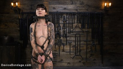 Photo number 1 from Charlotte Sartre: Gothic Torment in Diabolical Bondage shot for Device Bondage on Kink.com. Featuring Charlotte Sartre in hardcore BDSM & Fetish porn.