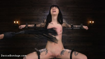 Photo number 12 from Charlotte Sartre: Gothic Torment in Diabolical Bondage shot for Device Bondage on Kink.com. Featuring Charlotte Sartre in hardcore BDSM & Fetish porn.