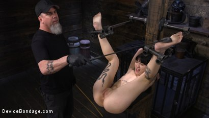 Photo number 17 from Charlotte Sartre: Gothic Torment in Diabolical Bondage shot for Device Bondage on Kink.com. Featuring Charlotte Sartre in hardcore BDSM & Fetish porn.