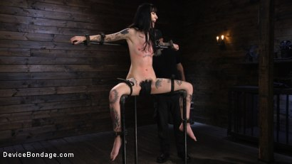 Photo number 18 from Charlotte Sartre: Gothic Torment in Diabolical Bondage shot for Device Bondage on Kink.com. Featuring Charlotte Sartre in hardcore BDSM & Fetish porn.