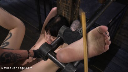 Photo number 22 from Charlotte Sartre: Gothic Torment in Diabolical Bondage shot for Device Bondage on Kink.com. Featuring Charlotte Sartre in hardcore BDSM & Fetish porn.