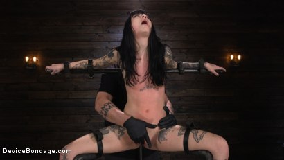 Photo number 25 from Charlotte Sartre: Gothic Torment in Diabolical Bondage shot for Device Bondage on Kink.com. Featuring Charlotte Sartre in hardcore BDSM & Fetish porn.