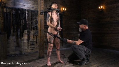 Photo number 6 from Charlotte Sartre: Gothic Torment in Diabolical Bondage shot for Device Bondage on Kink.com. Featuring Charlotte Sartre in hardcore BDSM & Fetish porn.