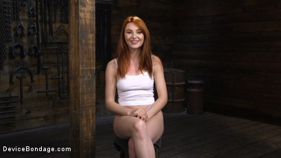 Photo number 2 from Lacy Lennon: Gorgeous Redhead's Sensual Submission shot for Device Bondage on Kink.com. Featuring Lacy Lennon in hardcore BDSM & Fetish porn.