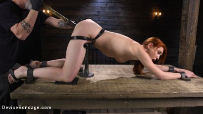 Photo number 15 from Lacy Lennon: Gorgeous Redhead's Sensual Submission shot for Device Bondage on Kink.com. Featuring Lacy Lennon in hardcore BDSM & Fetish porn.