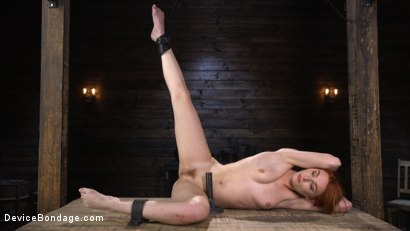 Photo number 18 from Lacy Lennon: Gorgeous Redhead's Sensual Submission shot for Device Bondage on Kink.com. Featuring Lacy Lennon in hardcore BDSM & Fetish porn.