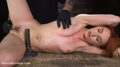 Photo number 19 from Lacy Lennon: Gorgeous Redhead's Sensual Submission shot for Device Bondage on Kink.com. Featuring Lacy Lennon in hardcore BDSM & Fetish porn.