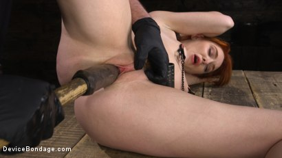 Photo number 28 from Lacy Lennon: Gorgeous Redhead's Sensual Submission shot for Device Bondage on Kink.com. Featuring Lacy Lennon in hardcore BDSM & Fetish porn.