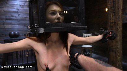 Photo number 4 from Lacy Lennon: Gorgeous Redhead's Sensual Submission shot for Device Bondage on Kink.com. Featuring Lacy Lennon in hardcore BDSM & Fetish porn.