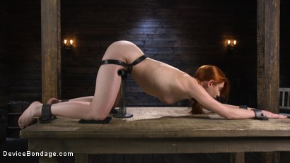Photo number 9 from Lacy Lennon: Gorgeous Redhead's Sensual Submission shot for Device Bondage on Kink.com. Featuring Lacy Lennon in hardcore BDSM & Fetish porn.