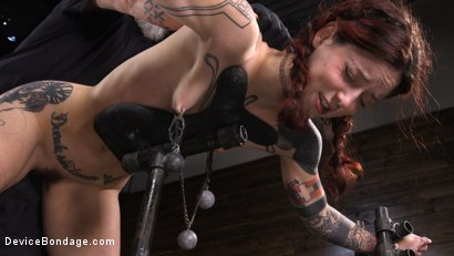 Photo number 10 from Cam Damage: First Time Torment For A Badass shot for Device Bondage on Kink.com. Featuring Cam Damage in hardcore BDSM & Fetish porn.