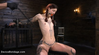 Photo number 18 from Cam Damage: First Time Torment For A Badass shot for Device Bondage on Kink.com. Featuring Cam Damage in hardcore BDSM & Fetish porn.