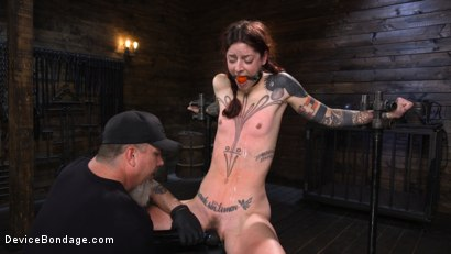 Photo number 22 from Cam Damage: First Time Torment For A Badass shot for Device Bondage on Kink.com. Featuring Cam Damage in hardcore BDSM & Fetish porn.