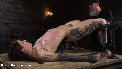 Photo number 9 from Cam Damage: First Time Torment For A Badass shot for Device Bondage on Kink.com. Featuring Cam Damage in hardcore BDSM & Fetish porn.