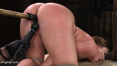 Photo number 18 from Maddy O'Reilly: Naughty Slut Submits to The Pope shot for Hogtied on Kink.com. Featuring Maddy O'Reilly in hardcore BDSM & Fetish porn.