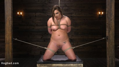 Photo number 3 from Maddy O'Reilly: Naughty Slut Submits to The Pope shot for Hogtied on Kink.com. Featuring Maddy O'Reilly in hardcore BDSM & Fetish porn.