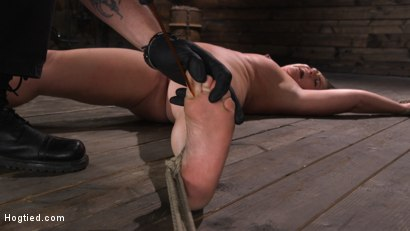Photo number 24 from Maddy O'Reilly: Naughty Slut Submits to The Pope shot for Hogtied on Kink.com. Featuring Maddy O'Reilly in hardcore BDSM & Fetish porn.