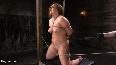 Photo number 4 from Maddy O'Reilly: Naughty Slut Submits to The Pope shot for Hogtied on Kink.com. Featuring Maddy O'Reilly in hardcore BDSM & Fetish porn.